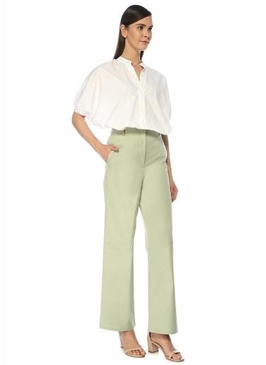 Beymen Studio Beymen Studio  Yüksek Bel Bol Paça Pantolon 101522264 Yeşil